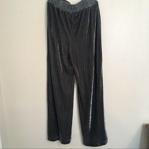 Who What Wear Pants - Who What Wear velvet wide leg pants